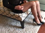 Platino Pantyhose Tease & Cum