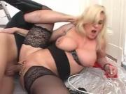 Marina Montana German Saggy Tits Assfucked Black Stockings