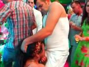 Bi club sex dolls fucking in public