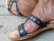 Candid ebony feet of the beautician 2