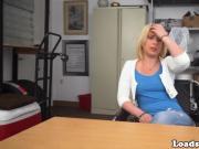 Blonde amateur pounds black cock at casting