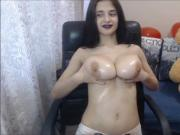 Alexia's Lovely Oiled Tits
