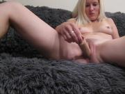 Nude Latvian Teen playing with her toy