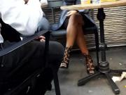 candid sexy crossed legs feets