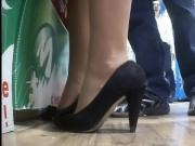 gf sexy heels in shop