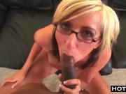 Glasses Blonde Teen BBC Big Cock Pounding