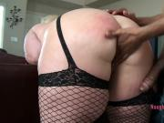 An amazing big white ass ready for a BBC