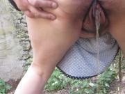 Beautiful pee in the garden