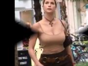 Candid Boobs: Slim Busty White Woman 3