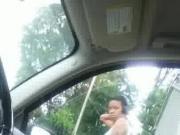 flashing black girl