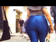 BBW Donk Walk in Blue Spandex