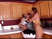 Belladonna and girlfriend abuse maid
