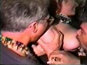 Mardi Gras flasher getting her titties sucked