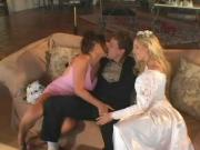Bride and Bridesmaid go Ass-to-Mouth