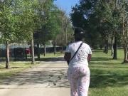 Ghetto booty jiggling in pajama pants