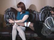 Sibil tied and tickled by Sandra