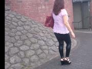 Latex Leggings walk