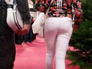 Candid ass in white jeans
