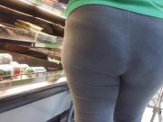 BBW Black Ebony Big Butt Gray VPL!