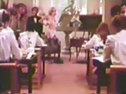 Teacher fucks in front of roomful of Catholic Schoolgirls!