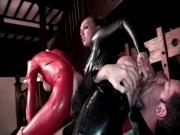 British slut Keira in another kinky FFM threesome