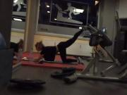 Voyeur gym babe hot body