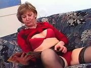 Granny in Glasses and Stockings Loves a Fuck