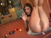 Melanie Rios Masturbates On Pool Table
