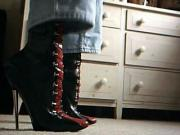 7inch knee boots, lace up