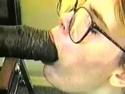 white whore taking a black monster cock in her ass