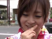 Nozomi Hazuki gets a huge dick in that warm vag