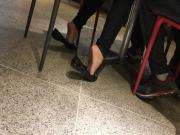 Amateur soft girl feet and soles in mall