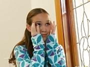 Beauty tiny teen Amai Liu get two huge cocks