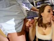 Fucked by her husband and another man