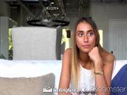 CastingCouch X Casting agent fucks newcomer Raquel Diamond
