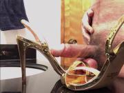Cummy Gold Sling-Back Heels