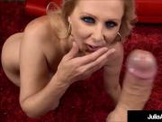 Big Boobed Blonde Milf Julia Ann Strokes & Blows Your Dick!