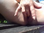 a little fingering in the sunshine