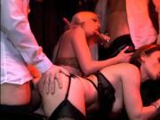2 Perfect Girls on 3 Cocks - Club Orgies