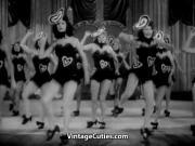 Burlesque Girls Dance on Stage 1940s Vintage