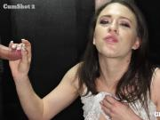 Huge clit with massive pussy lips sucking dicks in gloryhole