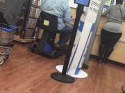 Gigantic Round Black BBW Booty in Leggings Pt 2
