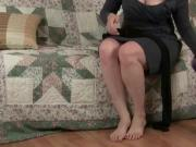 Matures Amanda and Catherine teasing in pantyhose