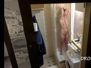 Czech teen naked in the shower hidden spy cam