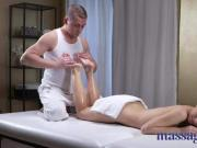 Massage Rooms Petite tight young Russian worships the cock