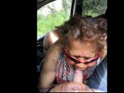 Ugly mature latin suck in car and finger ass.