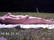 nude sunbathing masturbation