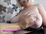 Sally has those big tits of hers felt up