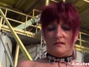 Busty red head euro amateur cocksucking