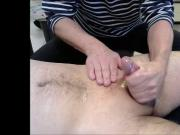 70 years oldman with asian cock handjob oil massage